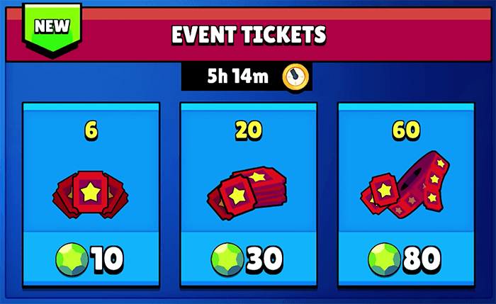 Purchasing event ticket deals with gems