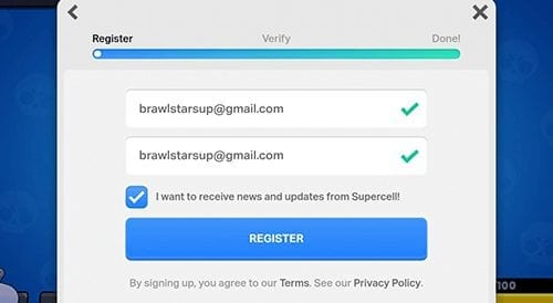 Register Supercell Id